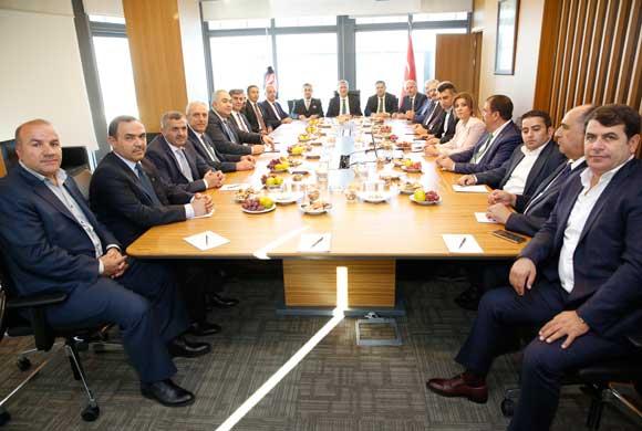 Gaziantep Ticaret Borsası Heyetinden İSO Başkanı Erdal Bahçıvan'a Ziyaret