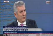 İSO Başkanı Erdal Bahçıvan Habertürk'te Bakış Programı Noyan Doğan'ın Konuğu Oldu