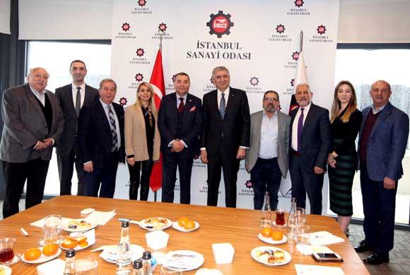 HASİAD'ın Yeni Yönetim Kurulu Üyeleri İSO Başkanı Erdal Bahçıvan'ı Ziyaret Etti