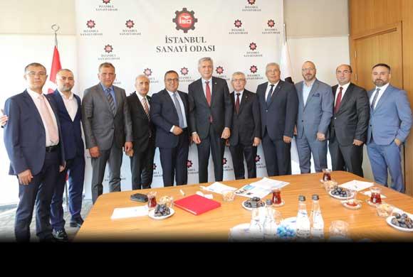 Hırdavat Sanayici ve İş Adamları Yönetimi İSO'yu Ziyaret Etti