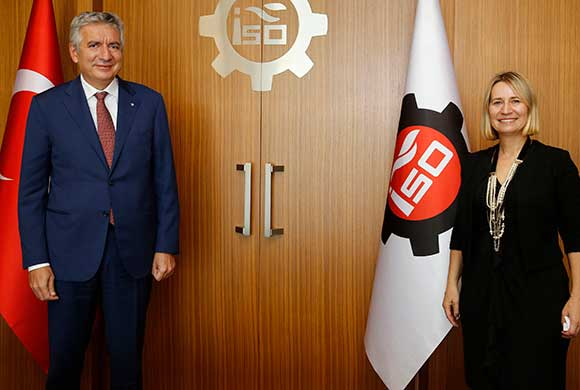 Ivana Zerec, the Consul General of Croatia in Istanbul visited Erdal Bahçıvan, ICI President