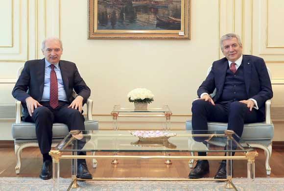 İSO Başkanı Erdal Bahçıvan İBB Başkanı Mevlüt Uysal'ı Ziyaret etti