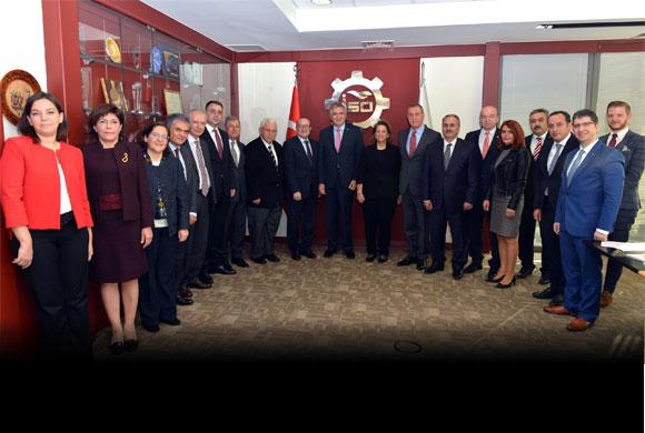 İktisadi Kalkınma Vakfı'nın Yeni Yönetiminden İstanbul Sanayi Odası'na Nezaket Ziyareti