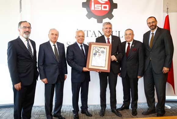 Türkiye İnşaat Malzemesi Sanayicileri Derneği (İMSAD) Yönetimi, İSO Başkanı Erdal Bahçıvan'ı Ziyaret Etti