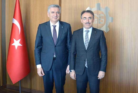 İSKİ Genel Müdürü Fatih Turan İSO Başkanı Erdal Bahçıvan'ı Ziyaret Etti
