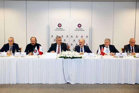 İSO ve İTO Yönetimleri, Müşterek Yönetim Kurulu Toplantısı İçin Bir Araya Geldi