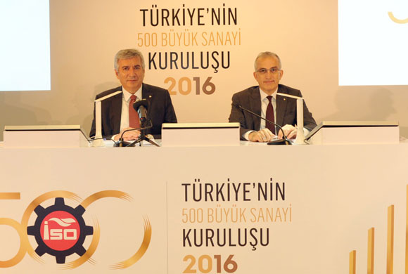 "ISO Announces ""Turkey Top 500 Industrial Enterprises 2016"" Results"
