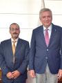 İsrail'in Yeni Ekonomi Müşaviri Agbariya, İSO Başkanı Erdal Bahçıvan'ı Ziyaret Etti