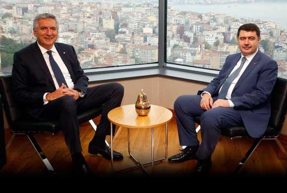 İstanbul Valisi Vasip Şahin, İSO Başkanı Erdal Bahçıvan'a Veda Ziyaretinde Bulundu