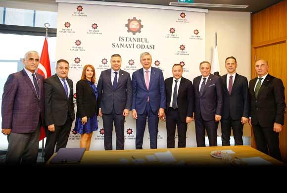 İTHİB Yönetim ve Denetim Kurulu Üyeleri İSO Başkanı Bahçıvan'ı Ziyaret Etti
