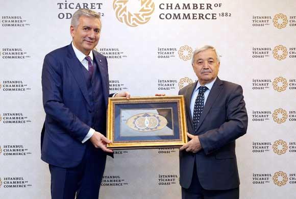 İSO Başkanı Erdal Bahçıvan, İTO Başkanı Öztürk Oran'ı Ziyaret Etti