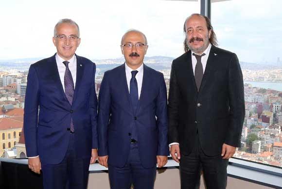 Kalkınma Bakanı Lütfi Elvan'dan İstanbul Sanayi Odası'na Nezaket Ziyareti