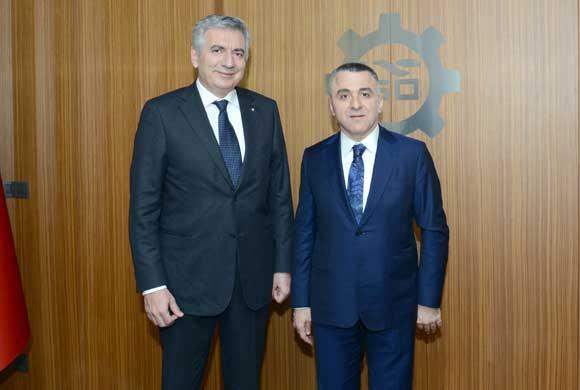 Kırklareli Valisi Osman Bilgin'den İSO Başkanı Bahçıvan'a Nezaket Ziyareti