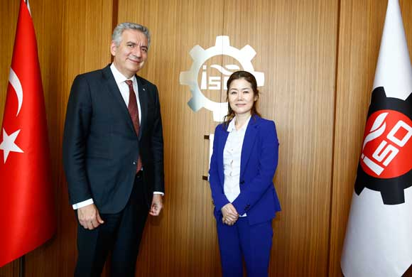 Yeunju Jang, Istanbul Consul General of South Korea visited Erdal Bahçıvan, ICI Chairperson