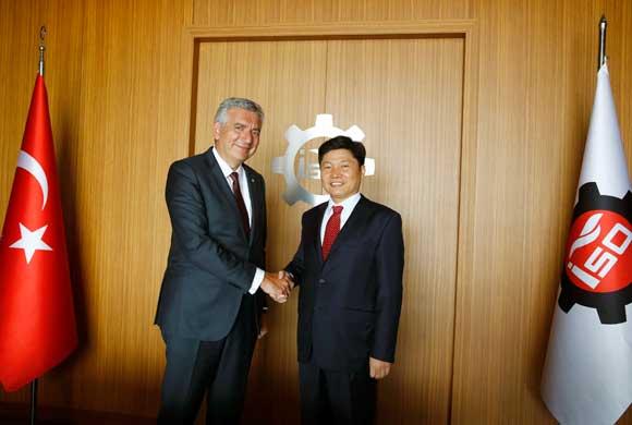 Korea Istanbul Consul General Hong Keewon Visits ICI Chairman Erdal Bahçıvan