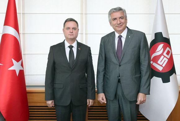 Kosova'nın İstanbul Başkonsolosu Morina, İSO Başkanı Erdal Bahçıvan'ı Ziyaret Etti