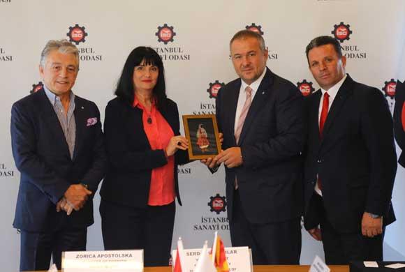 Kuzey Makedonya Yabancı Yatırımlar Bakanı, İSO'yu Ziyaret Etti