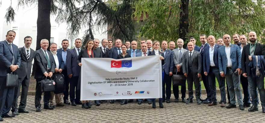 İSO Heyeti, İtalya'nın Lombardia Bölgesi'ne Çalışma Ziyareti Yaptı