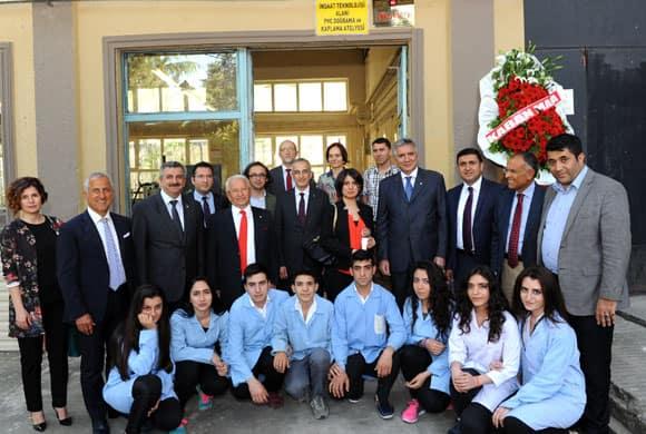 İSOV Lisesi'nde Kurulan PVC İşleme, Kesme ve Doğrama Atölyesi Açıldı