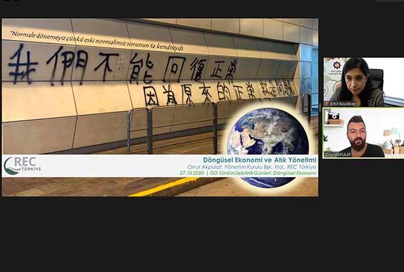 İSO Sürdürülebilirlik Günleri'nde Döngüsel Ekonomi Web Semineri Yapıldı