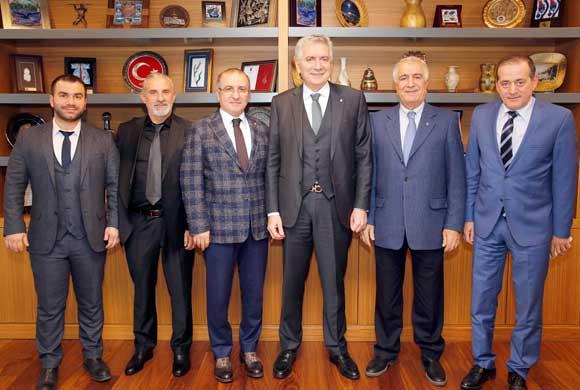 İstanbul Mermerciler Derneği Yönetimi İSO Başkanı Erdal Bahçıvan'ı Ziyaret Etti