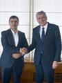 Muş Ticaret ve Sanayi Odası Başkanı Fatih Cengiz, İSO Başkanı Erdal Bahçıvan'ı Ziyaret Etti