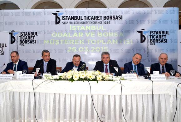 İstanbul Odalar ve Borsa Yönetimleri Sirkeci'nin Tarihi Ticaret Borsası'nda Toplandı