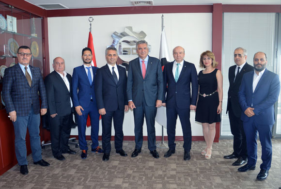 İSO Başkanı Bahçıvan, Osmanbeyli Tekstilcileri Ağırladı