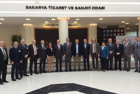 İSO Yönetim Kurulu Üyelerinden Sakarya TSO'ya Nezaket Ziyareti