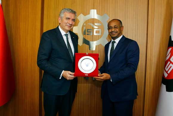 Sudan'ın İstanbul Başkonsolosu Alfaki İSO Başkanı Bahçıvan'ı Ziyaret Etti