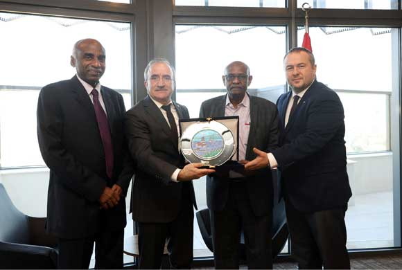 Sudan Delegation that is in Istanbul for OIC Summit Visits ICI