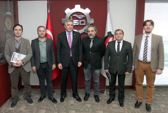 Türkiye Ayakkabı Sanayicileri Derneği Yeni Yönetimi İSO Başkanı Bahçıvan'ı Ziyaret Etti