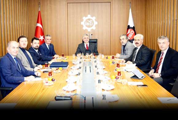 Türkiye Ayakkabı Sanayicileri Derneği'nin Yeni Yönetimi Erdal Bahçıvan'ı Ziyaret Etti