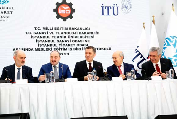 İstanbul'da Mesleki ve Teknik Eğitim Programlarını İlgili Sektörlerle Birlikte Tasarlamak İçin Tarihi İmzalar Atıldı