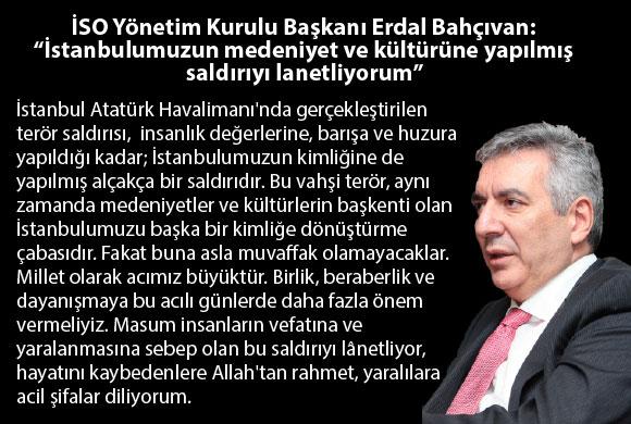 İstanbulumuzun medeniyet ve kültürüne yapılmış saldırıyı lanetliyorum