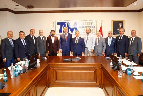 İstanbul Sanayi Odası Yönetimi TİM'in Yeni Başkanı İsmail Gülle'yi Ziyaret Etti