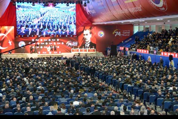 Türkiye Odalar ve Borsalar Birliği'nin 74. Genel Kurulu Ankara'da Yapıldı