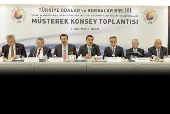 TOBB Müşterek Konsey Toplantısı, Gümrük ve Ticaret Bakanı Tüfenkci'nin Katılımıyla Yapıldı