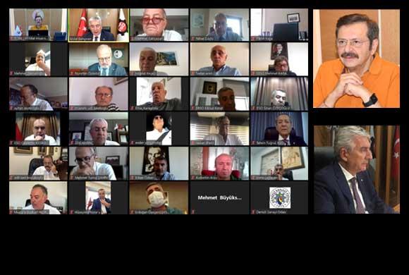 TOBB Sanayi Odaları Konsey Toplantısı Video Konferans Yöntemiyle Yapıldı