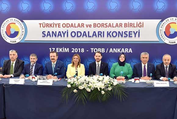 TOBB Sanayi Odaları Konseyi Toplantısı Üç Bakanın Katılımıyla Gerçekleşti