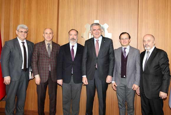 TÖSHİD'in Yeni Yönetim Kurulu Üyeleri İSO Başkanı Erdal Bahçıvan'ı Ziyaret Etti