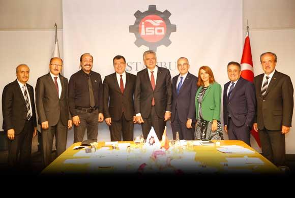 TÜBİTAK Başkanı Hasan Mandal İSO Yönetim Kurulu'nu Ziyaret Etti