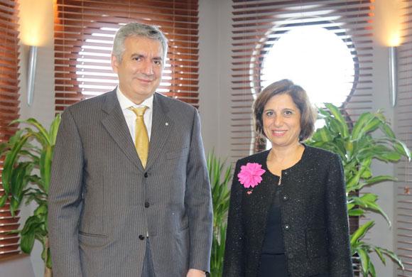 İSO Başkanı Erdal Bahçıvan, TÜSİAD'ın Yeni Başkanı Cansen Başaran-Symes'i Ziyaret Etti