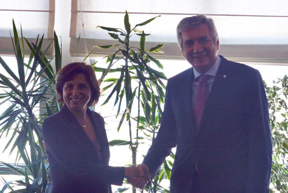 TÜSİAD Başkanı Cansen Başaran-Symes'dan İSO Başkanı Erdal Bahçıvan'a Nezaket Ziyareti