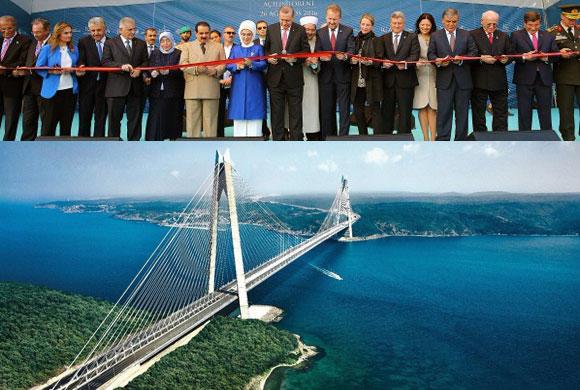 Yavuz Sultan Selim Köprüsü Görkemli Bir Törenle Ülkemizin Hizmetine Açıldı