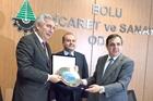 İSO Başkanı Erdal Bahçıvan, Ekonomi Bakan Yardımcısı Fatih Metin ve Bolu TSO Başkanı Türker Ateş