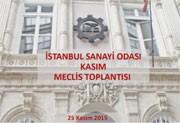 İstanbul Sanayi Odası Kasım Meclis Toplantısı, 25.11.2015
