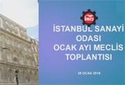 İstanbul Sanayi Odası Ocak Meclis Toplantısı, 28.01.2016